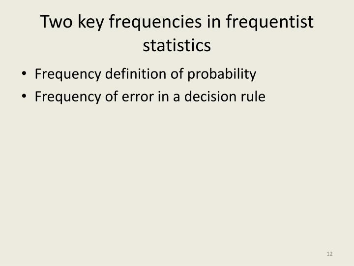 Two key frequencies in