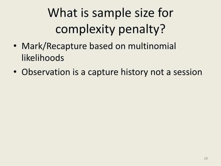 What is sample size for