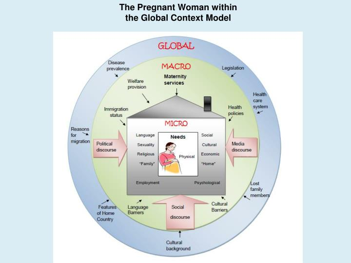 The Pregnant Woman within the Global Context Model
