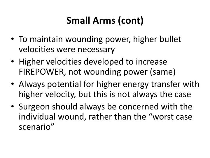 Small Arms