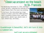 clean up project on the beach in st francois