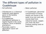 the different types of pollution in guadeloupe