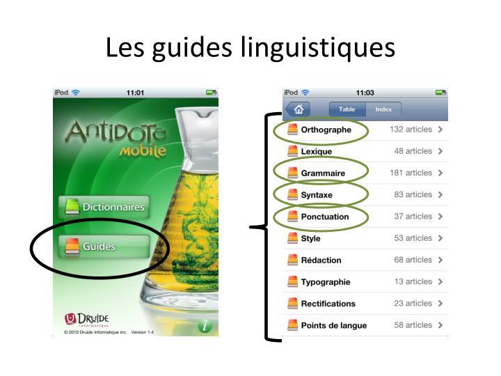 Les guides linguistiques