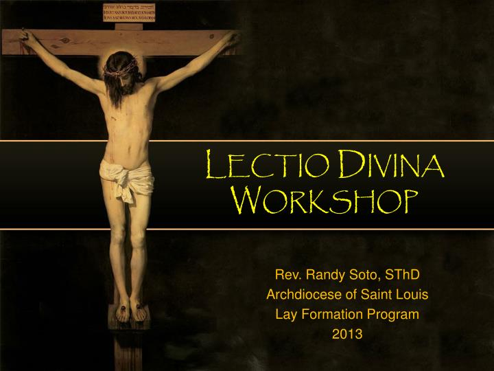 Lectio divina workshop