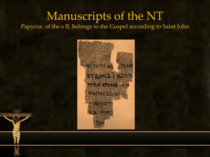 Manuscripts of the NT