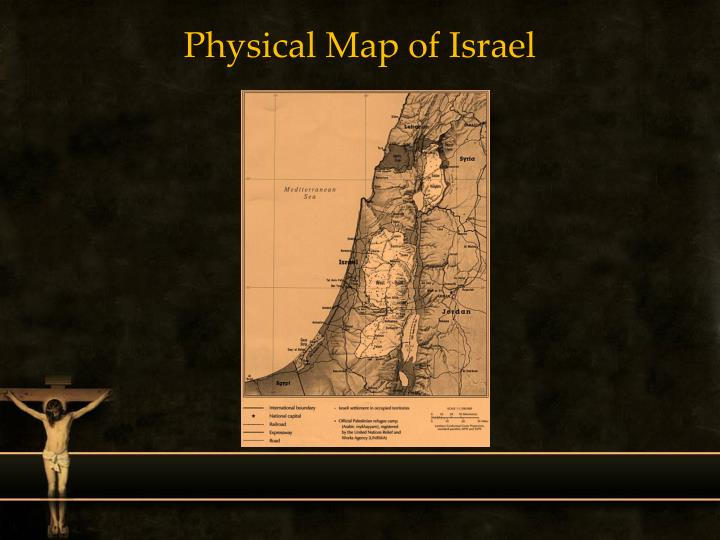 Physical Map of Israel