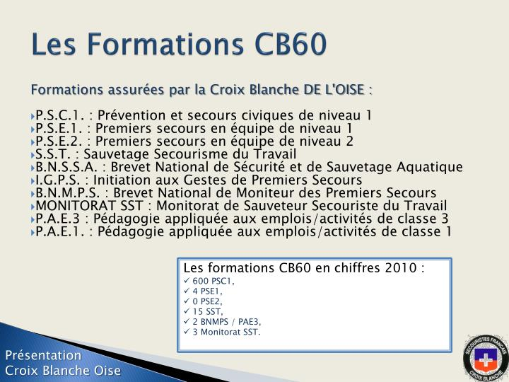 Les Formations CB60