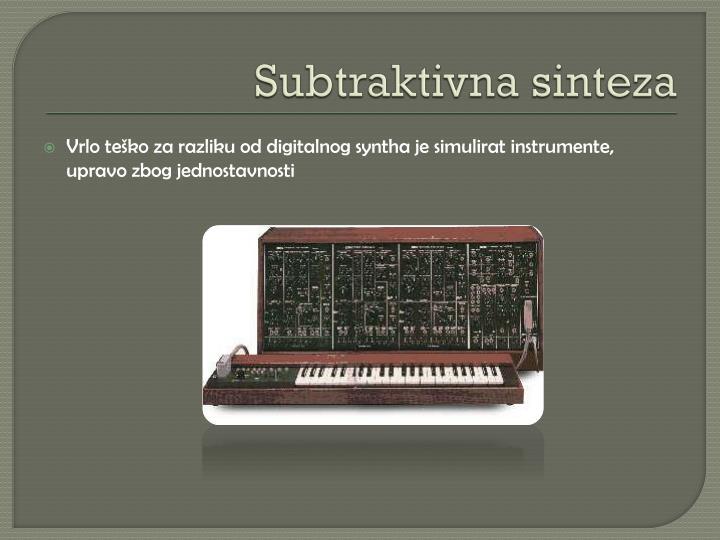 Subtraktivna sinteza