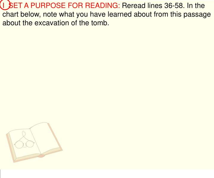 I  SET A PURPOSE FOR READING: