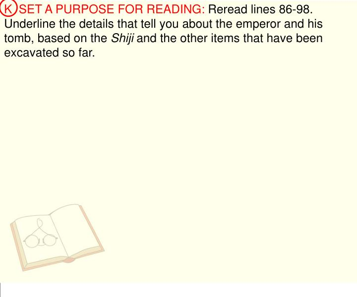 K  SET A PURPOSE FOR READING: