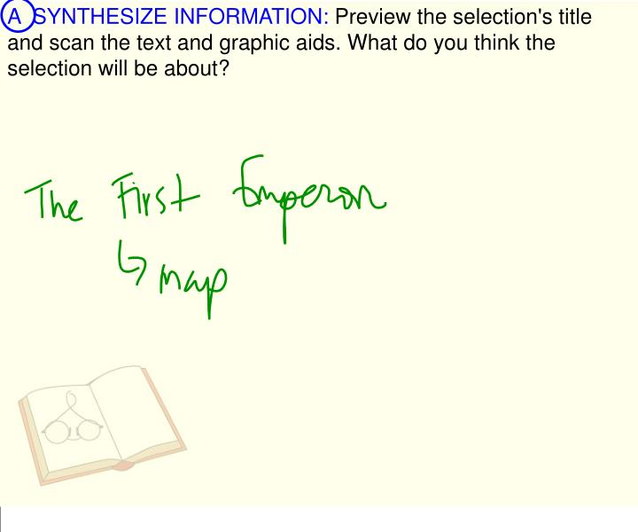 A  SYNTHESIZE INFORMATION: