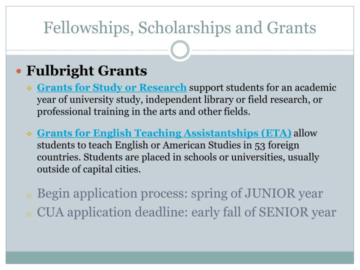 Fellowships, Scholarships and Grants