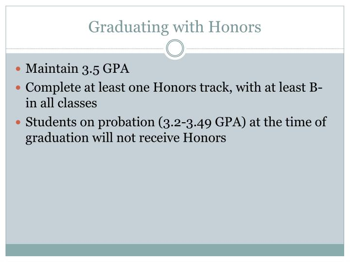 Graduating with Honors