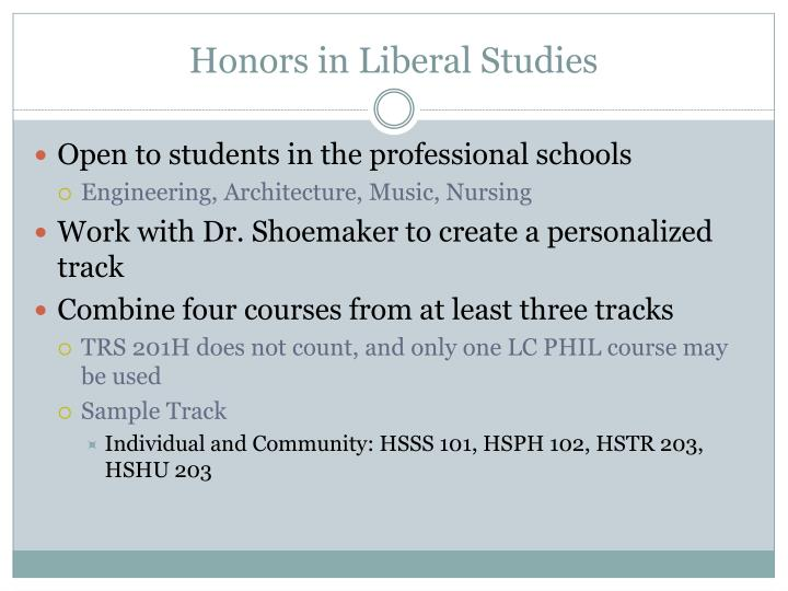 Honors in Liberal Studies