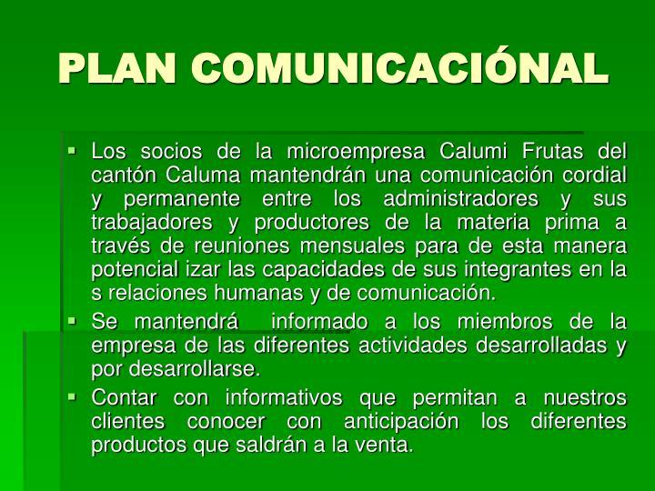 PLAN COMUNICACIÓNAL