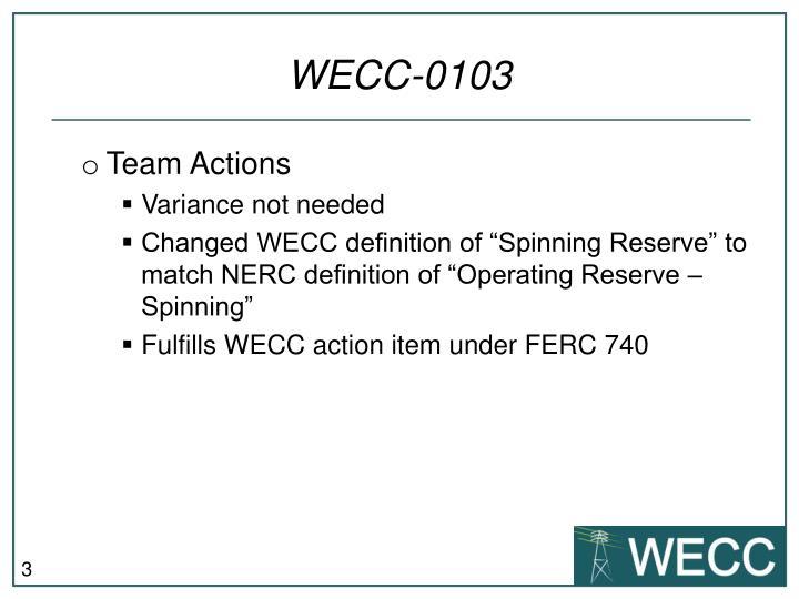 WECC-0103