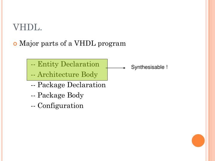 VHDL.
