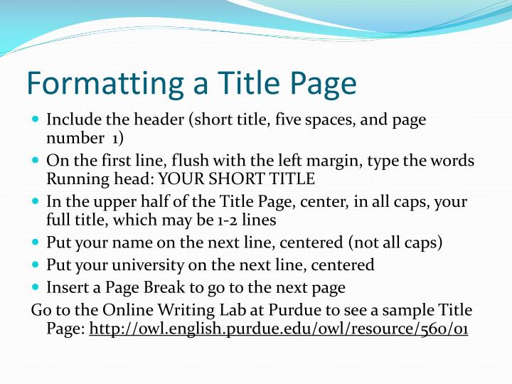 ppt - apa formatting  an introduction powerpoint presentation