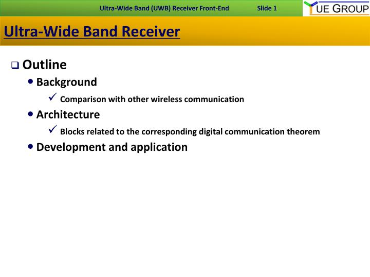 ultra wide band receiver