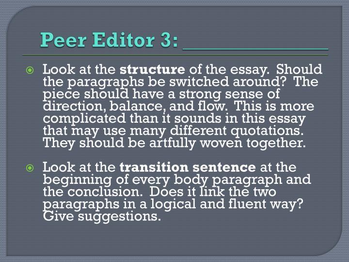 Peer Editor 3: ______________