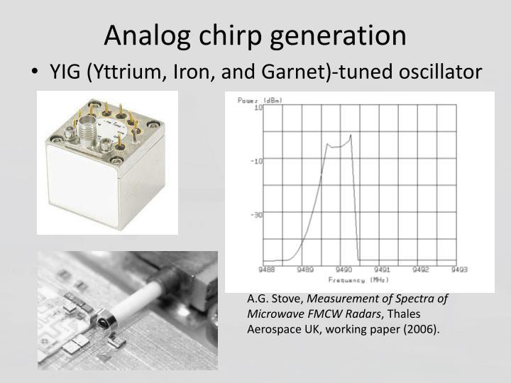 Analog chirp generation