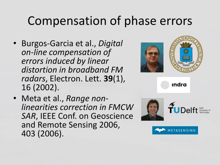 Compensation of phase errors