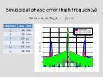 sinusoidal phase error high frequency