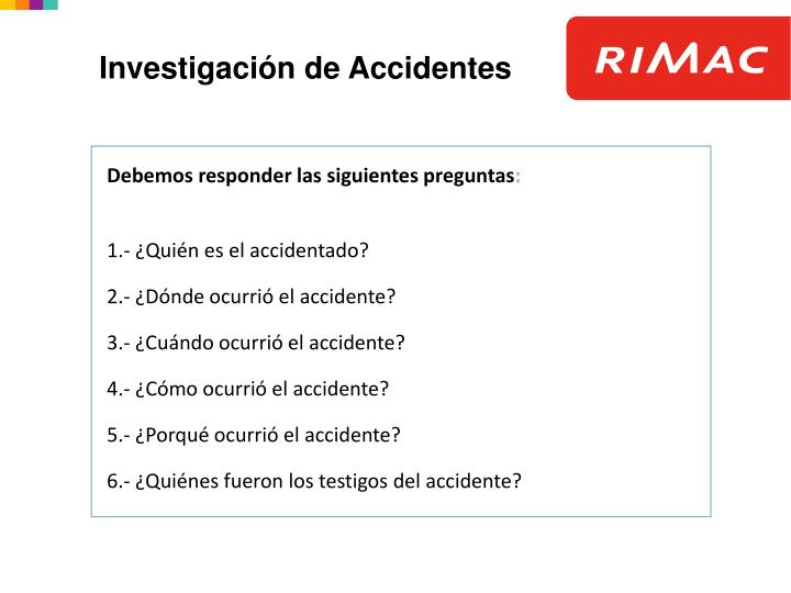 Investigación de Accidentes
