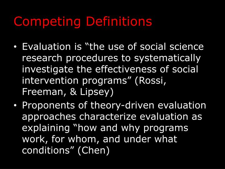 Competing Definitions