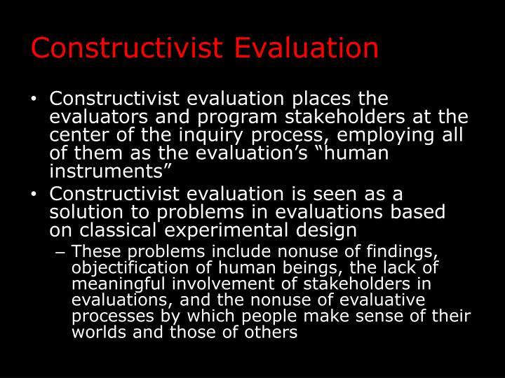 Constructivist Evaluation