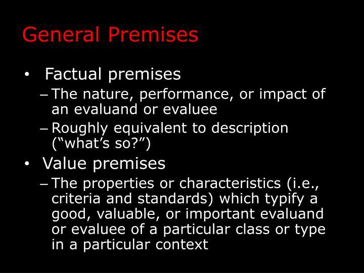 General Premises