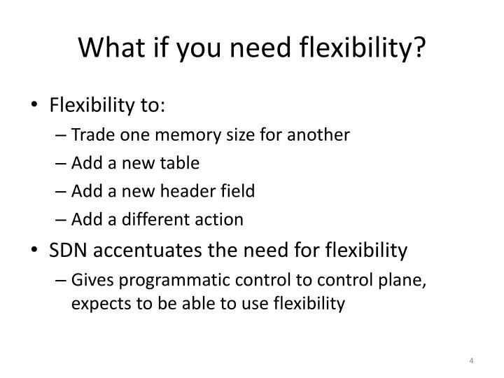 What if you need flexibility?