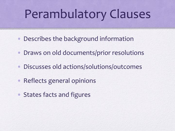 Perambulatory Clauses