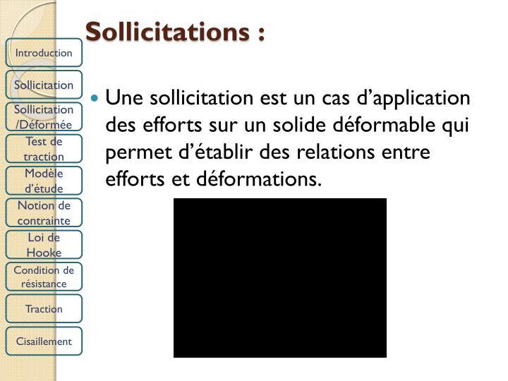 Sollicitations: