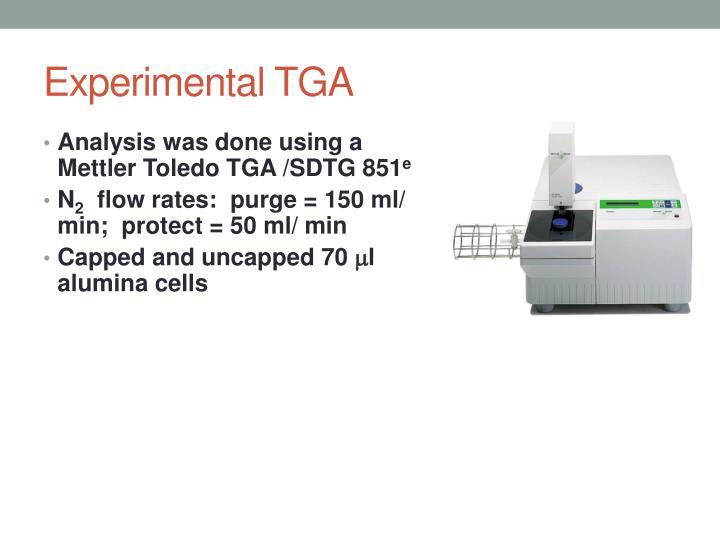 Experimental TGA