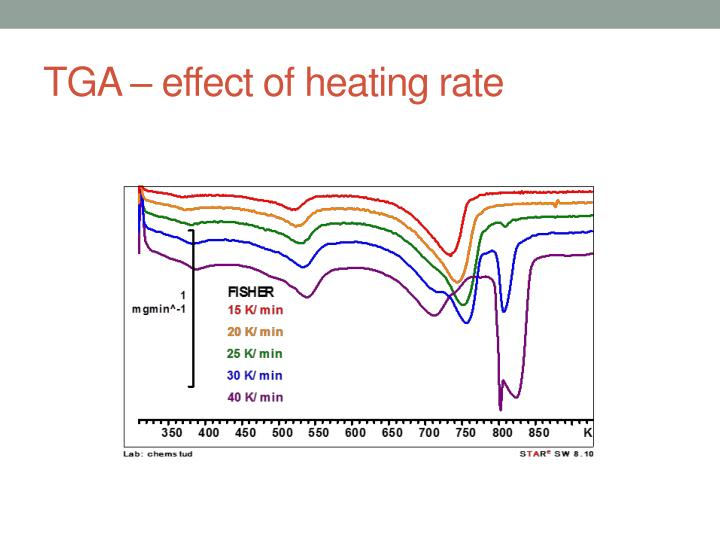 TGA – effect of heating rate