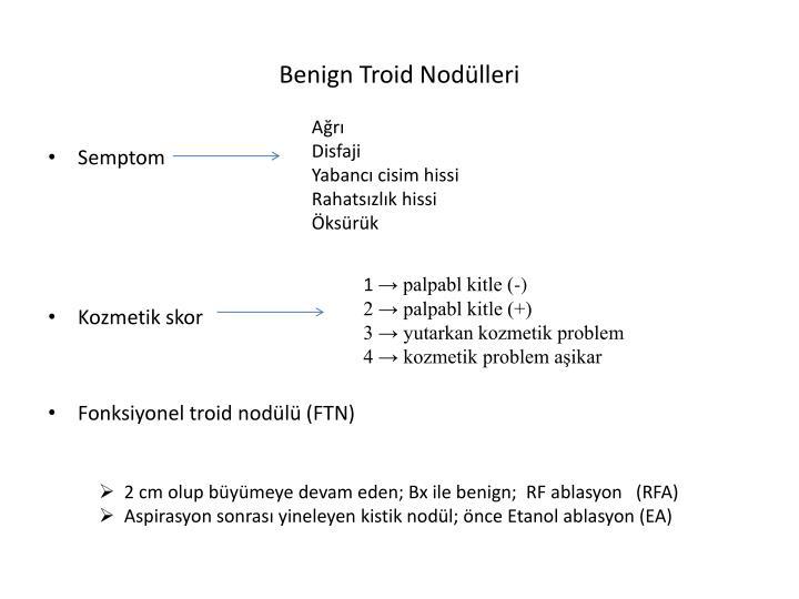 Benign Troid Nodülleri