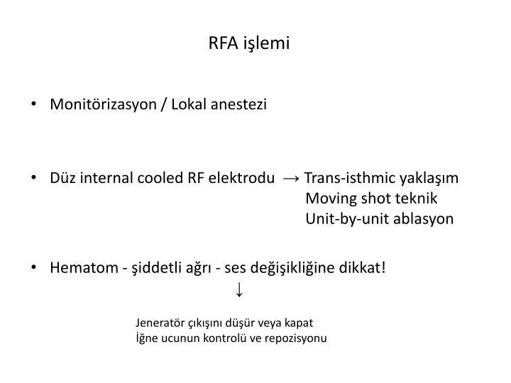 RFA işlemi