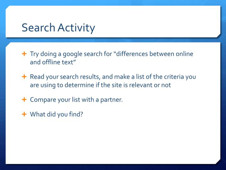 Search Activity