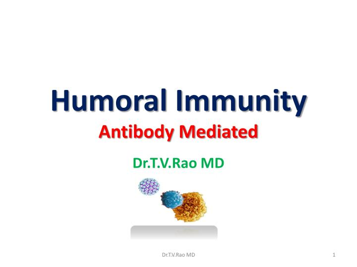 Humoral immunity antibody mediated