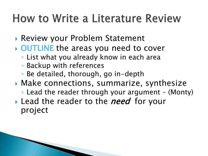 How to Write a Literature