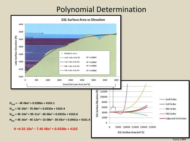 Polynomial Determination