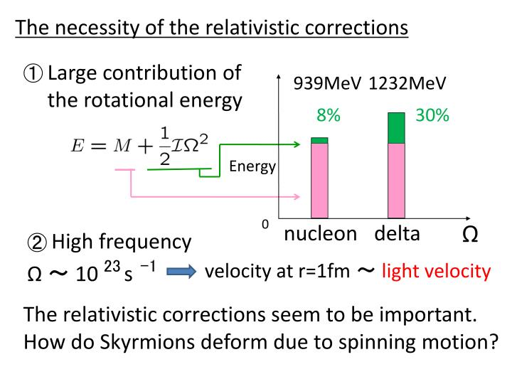 The necessity of the relativistic corrections