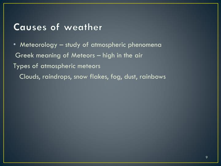 Causes of weather