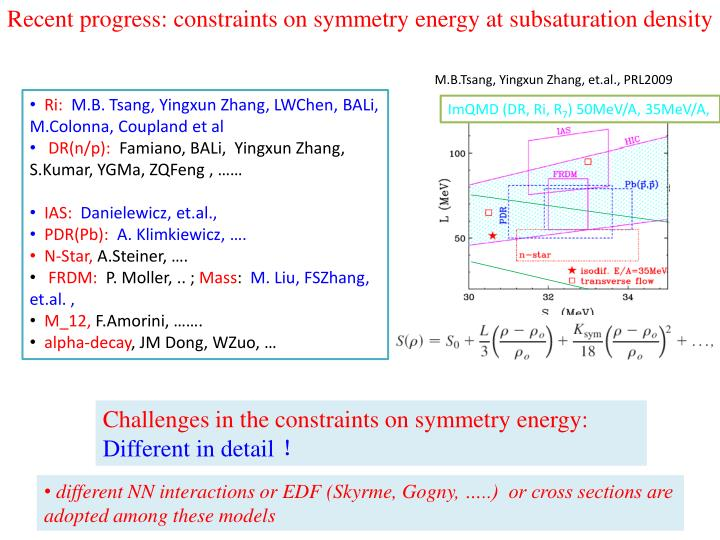 Recent progress: constraints on symmetry energy at