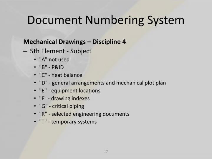 Document Numbering System