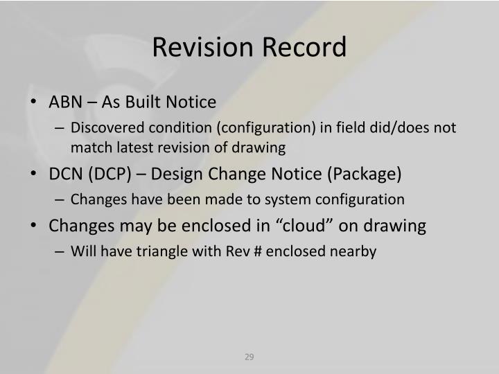 Revision Record