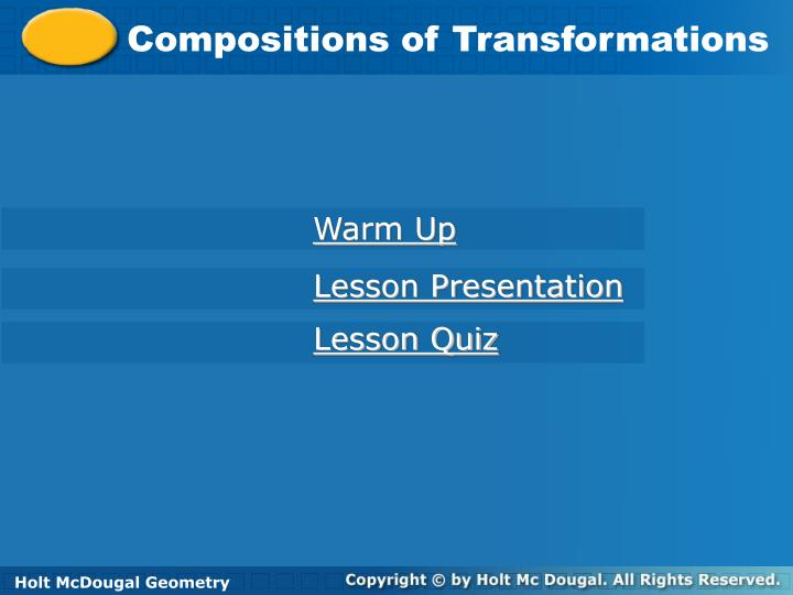 Compositions of Transformations