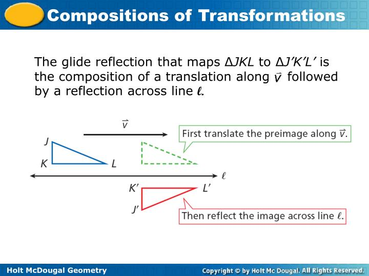The glide reflection that maps