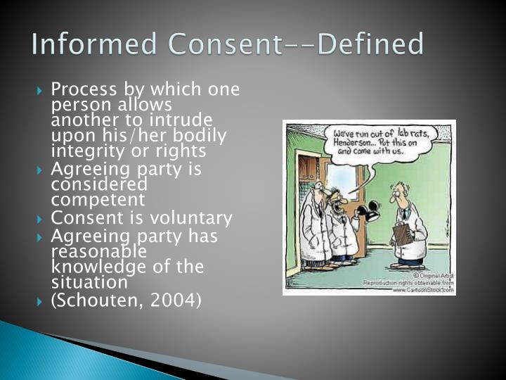 Informed Consent--Defined